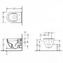 Инсталляция+Унитаз: Primera 16.65.90+Koller Pool Round ARC Rimless (RA 0520 RW)+сидение
