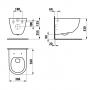 Унитаз подвесной Laufen Pro Rimless H820966+H8969513B сиденье Soft Close