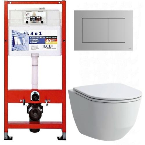 Инсталляция Tece 9.400.012 WC + унитаз Laufen Pro (H8669570000001) + клавиша хром