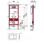 Инсталляция с унитазом: Tece 9.400.006 base kit + Koller Pool Round ARC Rimless (RA0520RW)
