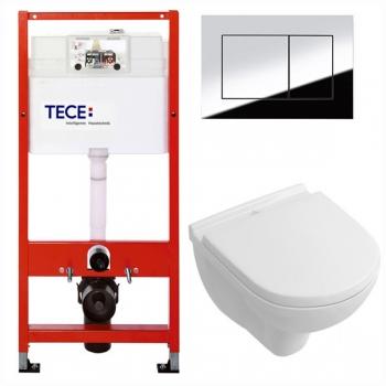 Унитаз+Инсталляция Tece 9.400.012 WC + Villeroy&Boch O.Novo 5660HR01