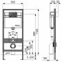 Инсталляция Tece 9.400.012 WC + унитаз Villeroy&Boch O.Novo Directflush (5660HR01) + клавиша хром