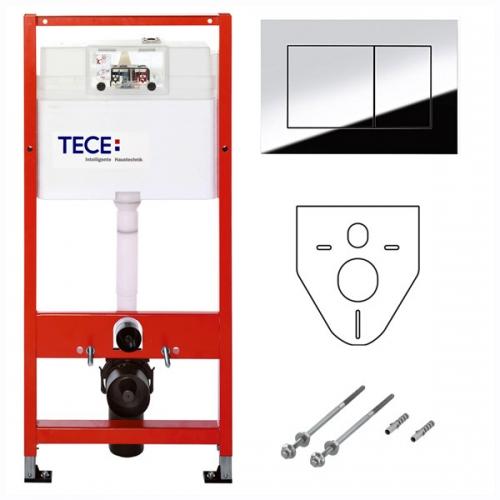 Инсталляция для туалета Tece 9.400.012 WC + клавиша хром