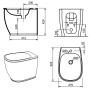 Унитаз напольный ArtCeram Azuley AZV002 03;00+сиденье soft close