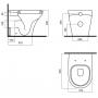 Унитаз приставной Am.Pm Inspire FlashClean C501438WH с сиденьем soft close