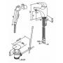 Смеситель для раковины с гигиеническим душем Am.Pm Sense F7503000