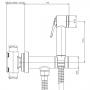 Душевой набор для биде Bossini Paloma Flat Mixer Set E37011B00030015