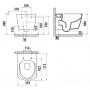 Подвесной унитаз Creavit Elegant Rim-Off + сиденье soft-close (EG321.00100+KC5030.00)