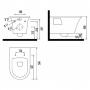 Подвесной унитаз Creavit Moon + сиденье soft-close (MO320.00100+KC4080.ANM)