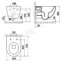 Подвесной унитаз Creavit Free FE322-11CB00E-0000 + сиденье Soft Close