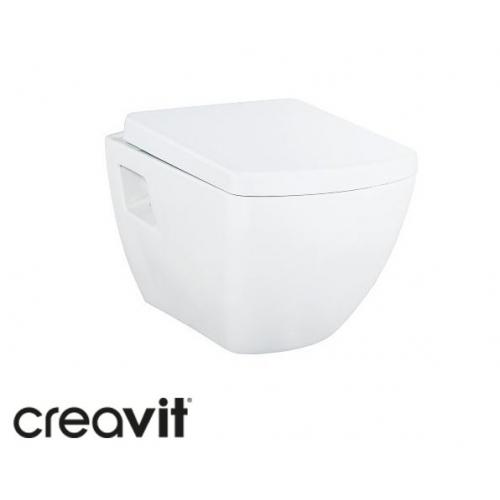 Подвесной унитаз Creavit Elegant Rim-Off + сиденье soft-close (TP326.00100+KC3181.00)