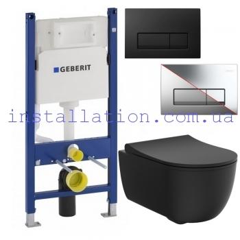 Инсталляция Geberit 458.126.00.1+Унитаз Devit ART 2.0 Rimless (3020140B) + крышка