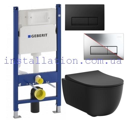 Инсталляция Geberit 458.126.00.1 + Унитаз Devit ART 2.0 Rimless (3020140B) c крышкой soft-close