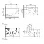 Унитаз подвесной Devit ART 2.0 Rimless (3020140B) безободковый soft-close, черный матовый