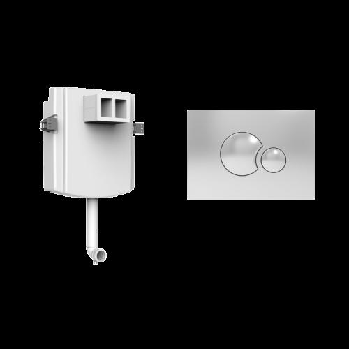 Бачок для унитаза Devit 70.445 +кнопка хром