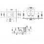 Унитаз подвесной Duravit Rimless Viu 2511090000 с сидением soft-close.