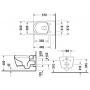 Унитаз подвесной Duravit Me by Starck Rimless 45290900A1+ Сиденье с крышкой