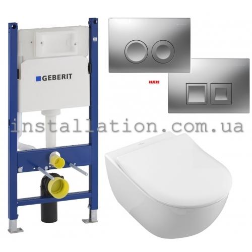 Инсталляция Geberit Duofix 458.126.00.1 + унитаз Villeroy&Boch Subway 2.0 5614R201