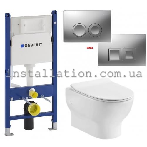 Инсталляция Geberit 458.126.00.1 + Унитаз Devit Fresh 3120121 c крышкой soft-close quick-fix