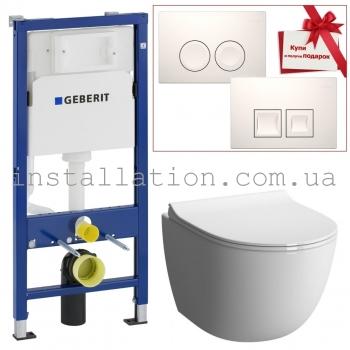 Инсталляция+унитаз: Geberit Duofix 458.103.00.1+Koller Pool Round Rimless (RN-0520-RW)