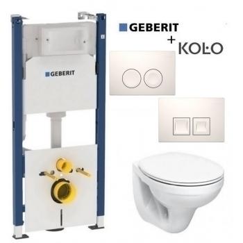 Унитаз + инсталляция: Geberit Duofix 3в1 (458.126.00.1) + Kolo Idol M1310002U+ кнопка