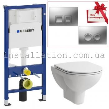 Инсталляция Geberit Duofix 458.103.00.1+Унитаз Laufen Pro H8669510000001+ крышка