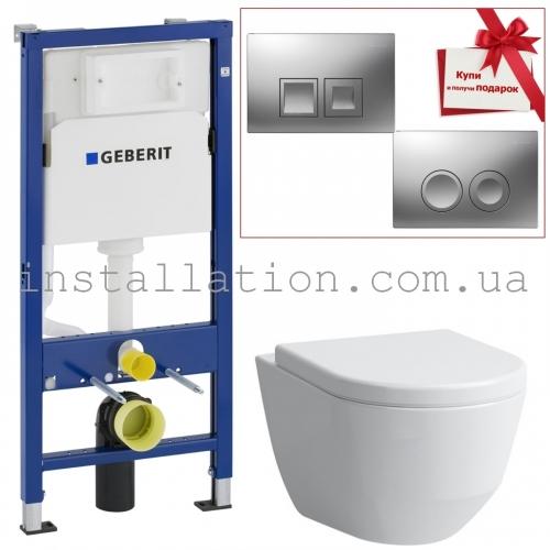Инсталляция+Унитаз: Geberit Duofix 3в1 (458.103.00.1)+Laufen Pro H8619570000001 + крышка SoftClose