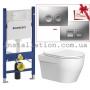 Инсталляция Geberit 458.126.00.1 + Унитаз Devit Laguna 3020110 Clean Pro c крышкой soft-close