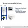 Инсталляция + унитаз: Geberit 3в1 Duofix Pro 20 (118.315.21.1)+ Kolo Idol M1310002U