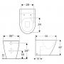 Унитаз напольный Geberit iCon Rimfree 214020000 +сиденьем с крышкой