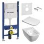 Инсталляция + унитаз: Geberit Duofix 111.300.00.5 + Kolo Modo Pure Rimfree L33123000+ L30115000 с сидением Slim
