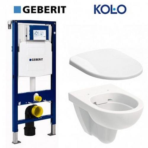 Инсталляции + унитаз: Geberit 111.300.00.5 + Kolo Nova Pro Rimfree M33120000