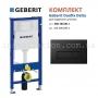 Инсталляция Geberit Duofix Delta 458.103.00.1 с кнопкой смыва Delta 51 115.105.DW.1 черная