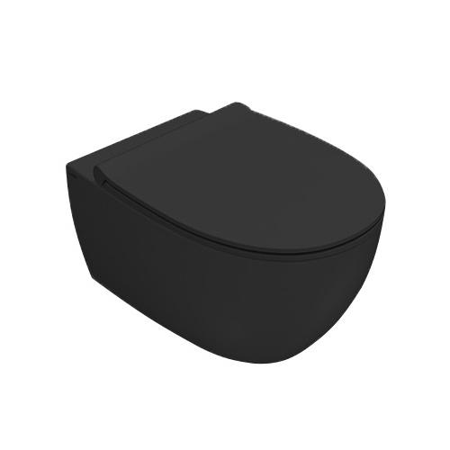 Унитаз подвесной безободковый Globo 4all Senzabrida (MDS03AR+MDR20AR)+сиденье с крышкой