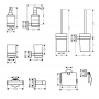 Набор аксессуаров 5в1 Hansgrohe Logis 41723111 для ванной