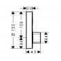 Смеситель скрытого монтажа с гигиеническим душем Hansgrohe ShowerSelect S 15747000