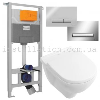 Инсталляция Imprese 3в1 i5220 + унитазом Villeroy&Boch O.novo 5660HR01
