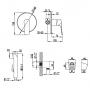 Инсталляция Koller Pool Ancora ST 1200 + кнопка + Гигиенический душ Imprese Kucera (VR30105Z-BT)