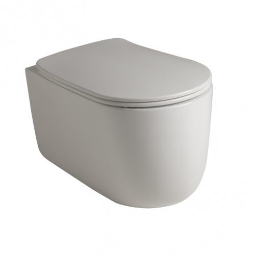 Унитаз подвесной безободковый Kerasan Nolita 5314 30 +сидение, белый матовый