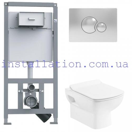 Инсталляция с унитазом: Primera 16.65.90+Devit Comfort NEW 3120123 с сиденьем