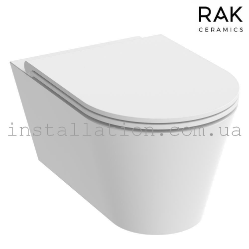 Унитаз подвесной Rak Ceramics Resort Rimles RST23AWHA+ Крышка RESC0004 SLIM, Soft Close