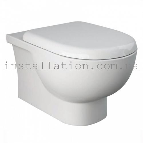 Унитаз подвесной Rak Ceramics Tonique rimless TQ13AWHA+ Крышка RESC0004 SLIM, Soft Close
