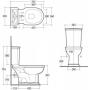 Унитаз-компакт Rak Ceramics Washington (WT11AWHA)+ Крышка RESC0004 Soft Close