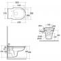 Унитаз подвесной Rak Ceramics Washington Rimless WT20AWHA+ Крышка RESC0004 Soft Close
