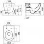Унитаз подвесной Ravak Chrome Uni RimOff X01535+Крышка с сидением Slim X01550