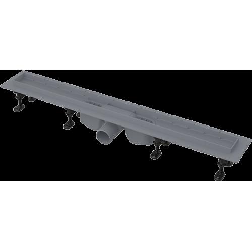 Водосточный желоб AlcaPlast APZ12- 850 с порогами для перфорированной решетки или решетки под кладку плитки Tile
