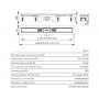 Водоотводящий желоб AlcaPlast APZ12- 1050 с порогами для перфорированной решетки или решетки под кладку плитки Tile