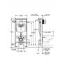 Инсталляция для подвесного унитаза Grohe Rapid SL 38721001+37131000