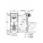 Инсталляция для унитаза 3 в 1 Grohe Rapid SL 38722001