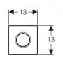 Кнопка смыва Geberit Sigma 01 116.011.11.5, белый